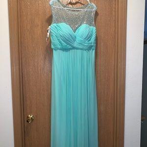 Mint prom dress. Blush brand